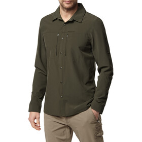 Craghoppers NosiLife Pro III Long Sleeved Shirt Men Dark Khaki